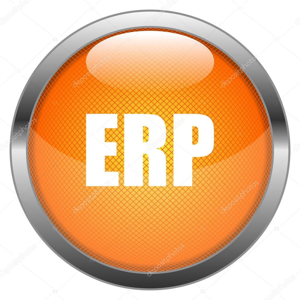Vector Button ERP — Stok Vektör #15024379