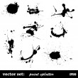 Set of paint splatter — Stock vektor