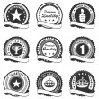 Set of 9 quality badges — Stockvectorbeeld