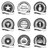 Set of 9 quality badges — Stock Vector