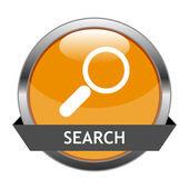 Vector Button Search — Stock Vector