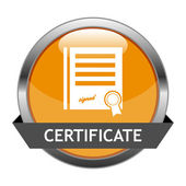 Vector Button Certificate — Stock Vector