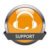 Vector Button Support — Stock Vector