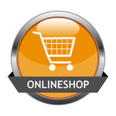 Vecteur bouton onlineshop — Vecteur