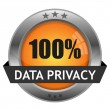 Stock Vector: Vector Button Data Privacy
