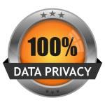 Vector Button Data Privacy — Stock Vector