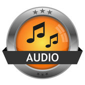 Vector Button Audio — Stock Vector