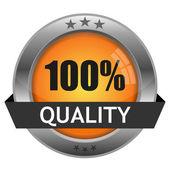 Vector botón calidad — Vector de stock