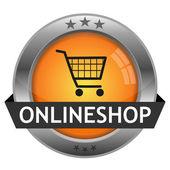 вектор кнопки onlineshop — Cтоковый вектор