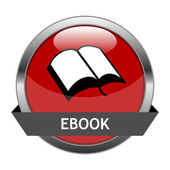 Vektorové tlačítko ebook — Stock vektor
