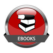 Vector Button Ebooks — Stock Vector