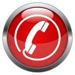 Vector Button Hotline — Stock Vector #16265001