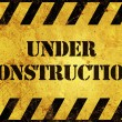 Under Construction Warning Sign — Stock Photo #16792615
