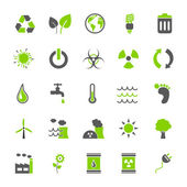 Vector Button: Eco Iconset — Stock Vector