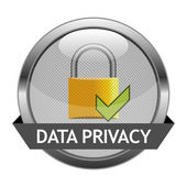 Vector Button Data Privacy — Stok Vektör