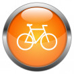 Vector Button Bicycle — Stock Vector