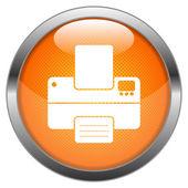 Vector Button Printer — Stock Vector