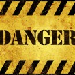 Danger Warning Sign — Stock Photo