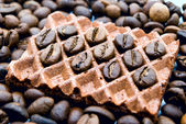 Wafers and coffee — Stock Photo