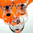 Stock Photo: Orange glass