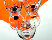 Oranje glazen — Stockfoto
