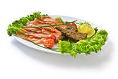 Salad of red fish — Stock Photo