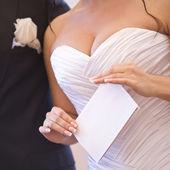 Noiva e noivo — Fotografia Stock