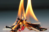 Fire matched — Stock Photo