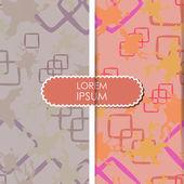 Karte mit dekorativen elementen — Stockvektor