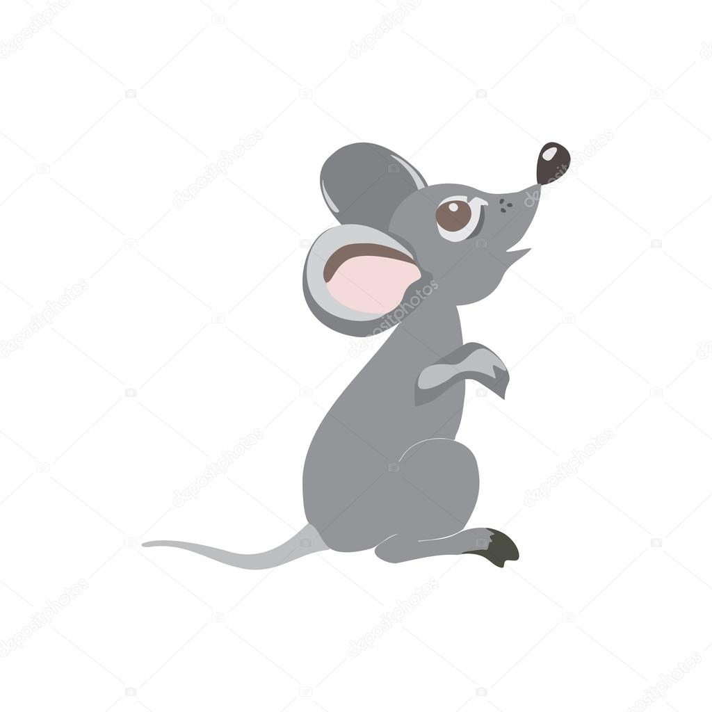 Cute little mouse cartoon, isolated on white background ...