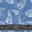 Leafs and flowers - seamless pattern — Image vectorielle
