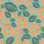 Flowers - seamless pattern — Stock Vector