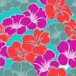 Flowers - seamless pattern — Stock Vector