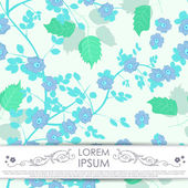 Leafs and flowers - seamless pattern — Stock Vector