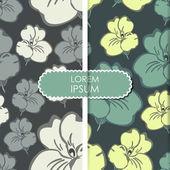 Kaart met bloemen — Stockvector