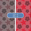 Colorful flowers and leafs - seamless pattern — Imagen vectorial