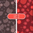 Colorful leafs and flowers - seamless pattern — Grafika wektorowa