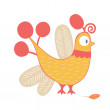 Cartoon chicken — Image vectorielle