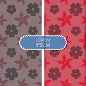 Colorful flowers and leafs - seamless pattern — Vecteur
