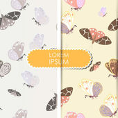 Butterfly - seamless pattern — Stock Vector