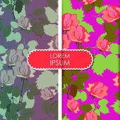 Floral card — Stockvektor