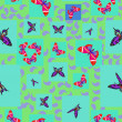 Butterfly - seamless pattern — 图库矢量图片