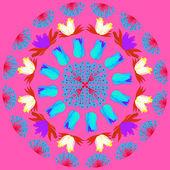 Květinové karta — Stock vektor