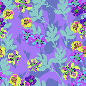 Floral - seamless pattern — Vector de stock