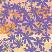 Floral - patrón sin costuras — Vector de stock