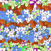 Blommor - sömlösa mönster — Stockvektor