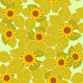 Foglie colorate e fiori - modello senza saldatura — Vettoriale Stock