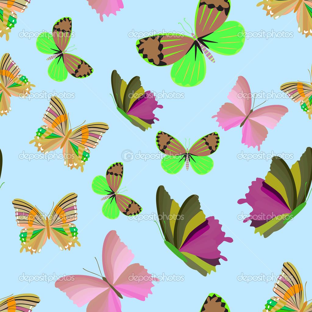 蝴蝶无缝图案 — 图库矢量图像08