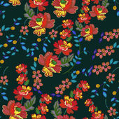 Flower- seamless pattern, vector illustration. — Stock Vector