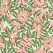 かわいい花柄シームレスな背景 — ストックベクタ